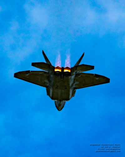 UP AND AHEAD - F-22 RAPTOR IN BURNER