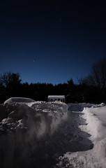 The moon on the breast of the new-fallen snow / Gave the lustre of mid-day to objects below (Dan Haug) Tags: twasthenightbeforechristmas yard freshsnow bright asday cold january 2019 windchill canada greely ottawa xpro2 fujifilm fujixseries xf16mmf14rwr xf16mm moonlight moonlit