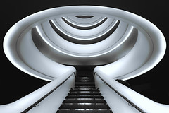 Pulpo Stairs (Tim-Dallos) Tags: stairs bw d750 nikon hotel geometry perspective octopus pulpo farnborough monochrome uk steps monster scifi