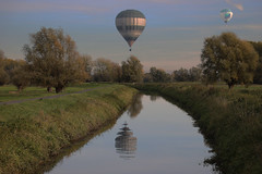 Ballooning - Sinaai - Belgium (roland_tempels) Tags: supershot sinaai belgium ballooning nature naturereserve water trees