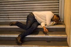Street Sleeping, Moorgate (LFaurePhotos) Tags: londonbynight streetsoflondon london moorgate sleeping streetphotography