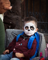 Handsome young ghoul (jon5cents ( 5centsphotos.com )) Tags: 5dmkii canon mexico sanmiguel sanmigueldeallende dayofthedead díademuertos facepainting