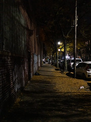 ⑪ On Bergen St (molybdena) Tags: newyorkcity newyork brooklyn night boerumhill urban transportation brick automobile vehicle
