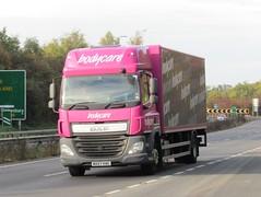 Bodycare MX67 KWG on the A5 at Shrewsbury (Joshhowells27) Tags: lorry truck daf cf dafcf bodycare mx67kwg box