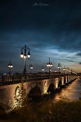 Pont de Pierre (alain.philippe66) Tags: bordeaux pont de pierre pontdepierre sky night france