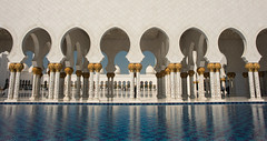 Grand Mosque, Abu Dhabi (Samual C Stone Photography) Tags: grandmosque mosque uae abu dhabi travel adventure nikon architecture reflection arches