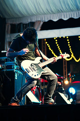 In the zone (andrewchewcc) Tags: man guitar electric stage singapore orchardroad tents lights music rock band speaker