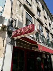Lisbon 2018 – British Bar (Michiel2005) Tags: britishbar sign uithangbord bord portugal lisbon lissabon lisboa