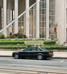 """Sunday is officially """"take your race car to work day"""". #e30 #sanfrancisco #BMW #financialdistrict #california (sina.pour) Tags: e30 sanfrancisco bmw financialdistrict california"""