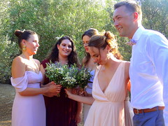 Bridesmaids with the Bride (dimaruss34) Tags: newyork brooklyn dmitriyfomenko image sky greece antiparos people man women flowers bridesmaid tree