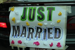 """Just Married Sign • <a style=""""font-size:0.8em;"""" href=""""http://www.flickr.com/photos/109120354@N07/44288214380/"""" target=""""_blank"""">View on Flickr</a>"""