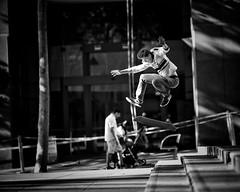 'Rad' - something really cool like sick! (gro57074@bigpond.net.au) Tags: cityskate action november monotone monochrome mono bw blackwhite f14 105mmf14 artseries sigma d850 nikon 2018 december streetphotography street martinplace sydney tricks speed jump air youth sport skater skateboarding skate