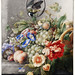 Flowers and fruits by Herman Henstenburgh (c.1700-c.1710). Original from The Rijksmuseum. Digitally enhanced by rawpixel.
