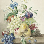 Still life of flowers and fruits by Jean Bernard (1775-1883). Original from the Rijks Museum. Digitally enhanced by rawpixel. thumbnail
