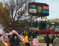 walk up (brown_theo) Tags: flare pregame soccer crew sc columbus scoreboard mapfre stadium ohio