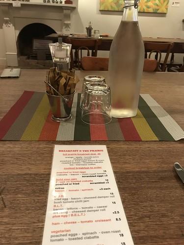 Prairie Hotel breakfast menu