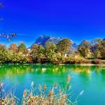River inn with Kaiser mountains in autumn near Kufstein, Tyrol, Austria thumbnail
