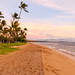 Golden hour at Kaanapali beach Maui Hawaii