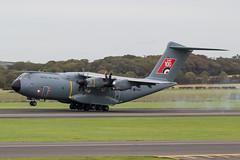 ZM416 A400M RAF Prestwick 20.09.18 (Robert Banks 1) Tags: zm416 airbus a400 a400m raf royal air force 100 sticker prestwick egpk pik military