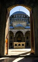 Suleymaniye Sultan Mosque (Rohaan Ali Photographics) Tags: suleymaniye sultan mosque turkey istanbul door light sunlight shadow tomb entrance blue arch architecture architectural photography photowalk rohaan ali tour
