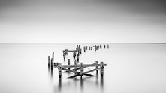 The Old Pier (petebristo) Tags: dorset seascape bw bwfineart fineartlandscape pier swanage