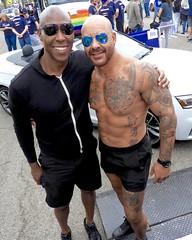 DSCN1528 (danimaniacs) Tags: longbeachpride gay hot sexy man guy shirtless beard scruff smile tattoo shorts muscle muscular pecs