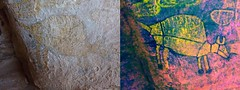 Western Australia - Kimberley - Bigge Island - Aboriginal Rock Art Site (spiderorchid) Tags: aboriginal rock art wandjina