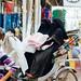 Muslim Women in Rickshaw, Varanasi India