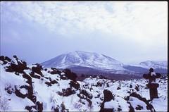 (✞bens▲n) Tags: pentax lx velvia 100 fa 35mm f2 film analogue slide japan kitakaruizawa asama mountain winter snow onioshidashi volcano
