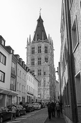 Cologne Rathaus (rschnaible) Tags: cologne germany europe outdoors sightseeing building architecture street scenes rathaus government bw black white photography monotone