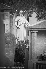 Pere Lachaise Cemetery (www.chriskench.photography) Tags: paris france europe travel cemetary cemetery monochrome blackandwhite bw statue fujifilm kenchie wwwchriskenchphotography xt2 taphophilia