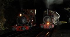 TR 82943cr (kgvuk) Tags: tr talyllynrailway trains railways narrowgaugerailway northwales station railwaystation abergynolwyn abergynolwynrailwaystation locomotive steamlocomotive talyllyn 042st dolgoch 040wt nightphotography