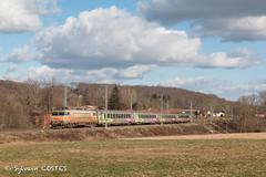 La BB 7297 amène le 14451 Toulouse - Bayonne sous la caténaire toute neuve. (Sylvain COSTES) Tags: bb7200 intercités corail train railway locomotive