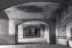 20140615_fort_point_arches_003 (petamini_pix) Tags: fortpoint sanfrancisco arches hdr brick blackandwhite bw monochrome grayscale california