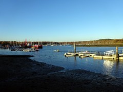Boats in the harbour at Buckler's Hard (markhorrell) Tags: britain walking hampshire newforest