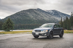 2005 Subaru Outback (Dylan King Photography) Tags: subaru outback 20052009 bc offroad softroad snow winter steelies rims black blue silver