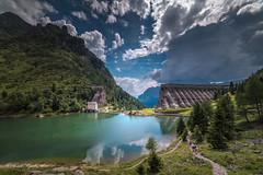 La diga crollata (Sassopiatto photography) Tags: diga acqua montagna cielo nubi sentiero panorama lago paesaggio
