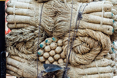Coiled Ropes for Sale, Varanasi India (AdamCohn) Tags: adam cohn ganga ganges india uttarpradesh varanasi rope sale streetphotographer streetphotography string twine vendor wwwadamcohncom adamcohn