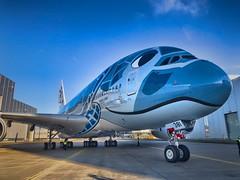 A380 ANA-All Nippon Airways (Simone Schloen ☞ www.bilderimkopf.de) Tags: flugzeuga380 schildkröte🐢turtle all nippon allnippon lackierung hamburg finkenwerder