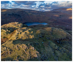 Wild Camp Looking over Easedale Tarn (dandraw) Tags: wildcamp wildcamping winter outdoors adventure thelakes thelakedistrict cumbria blearigg easedale easedaletarn mountains fromabove aerialphotography drone dji mavicair mavic sky clouds