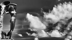 The water goddess (Luc1659) Tags: acqua dea roma monumento bw water nuvole clouds fontana