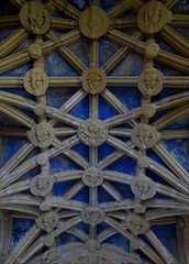 Percy Chapel Ceiling, Tynemouth Priory (Aidan McRae Thomson) Tags: tynemouth priory chapel tynewear vault vaulting ceiling bosses roofboss medieval carving architecture