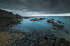 Dark blues... (Giacomo della Sera) Tags: photography giacomo della sera foto fotografia luz light azul blue clouds nubes cantabrico paz peace calm tranquilidad long expossure