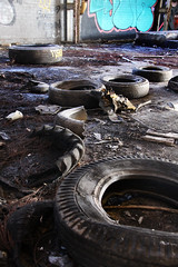 Tyred out (Capt' Gorgeous) Tags: wernworks neath britonferry wales industry urbex derelict factory