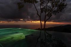 Costa Rica (Kathy~) Tags: costarica kura night sunset pool light artifical artificial tree