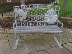 Lest We Forget (Glass Horse 2017) Tags: poppy doveofpeace 19141918 firstworkdwar remembrancebench cleveland lingdale bench metal