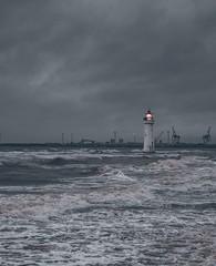 A calm Sea never made a good sailor (steveakawoody) Tags: 50mm newbrighton wirral sea storm a7rii a7rm2 sony lighthouse
