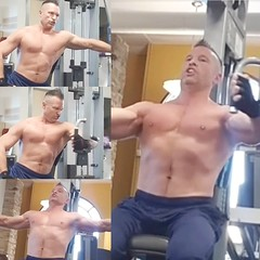 shirtless pec flys machine (ddman_70) Tags: shirtless pecs abs muscle gym workout chest
