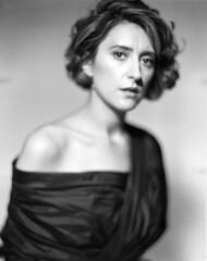 Blurry Marija Ratkovic (Braca Nadezdic) Tags: analog blackandwhite bw portrait studio graflex speedgraphic aeroektar kodaktrix320 4x5