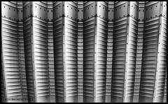 Vertical Steel (r.yuill) Tags: monochrome blackwhite architecture abstract shapes iphoneography
